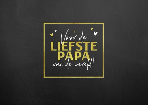 Vaderdagkaart fotocollage goud en krijtbord look 2