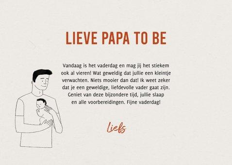 Vaderdagkaart papa to be met portretje en typografie 3