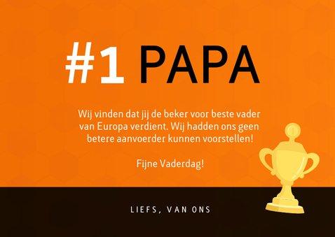 Vaderdagkaart voetbalshirt Nederlands elftal met foto 3