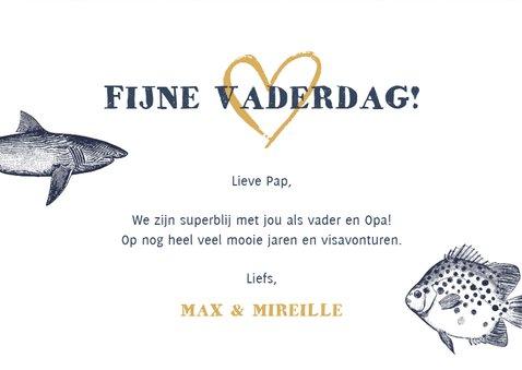 Vaderdagkaart voor vader of opa met vissen thema 3