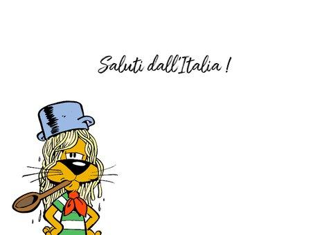 Vakantie Loeki in Italië vlag - A 3