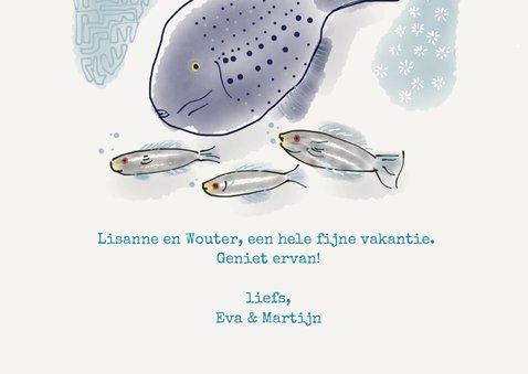 Vakantiekaart fish 3