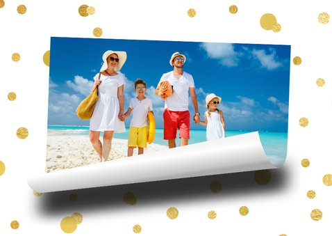 Vakantiekaart Holiday Greetings memo blaadje 2