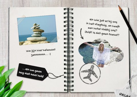 Vakantiekaart travel journal 2