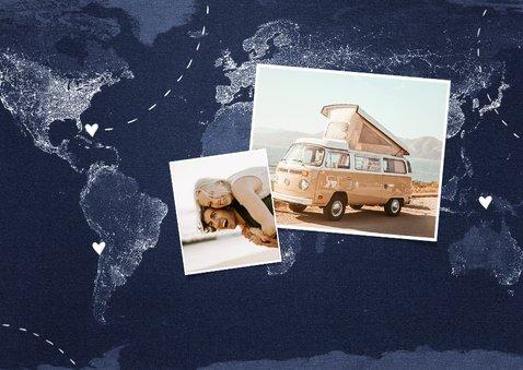 vakantiekaart wereldreis roadtrip kaart wereld 2