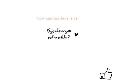 Valentijn - jij bent leuk met duim 3