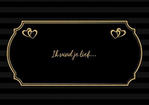 Valentijnskaart be my valentine in  gouden letters 3