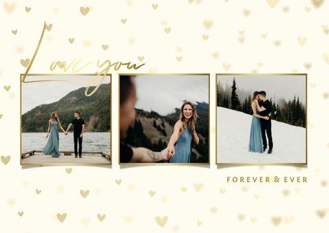Valentijnskaart fotocollage hartjes achtergrond 2