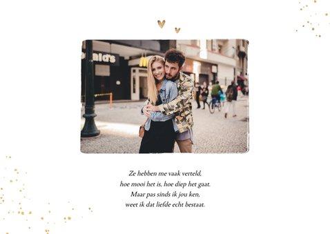 Valentijnskaart fotocollage hartjes goud spetters 2