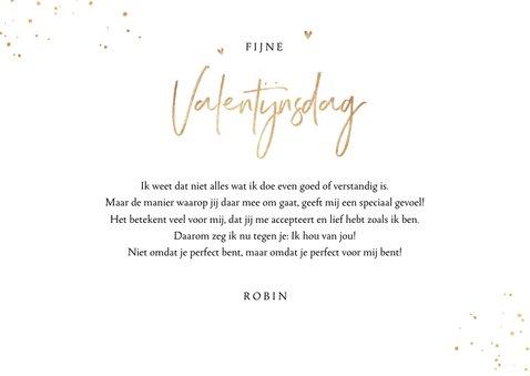Valentijnskaart fotocollage hartjes goud spetters 3