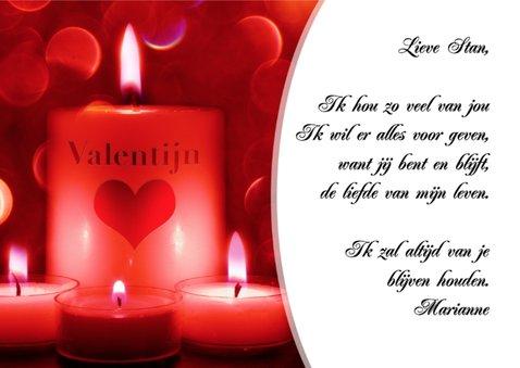 Valentijnskaart kaarsen - BK 3