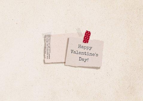 Valentijnskaart krantenknipsels XOXOXO 2