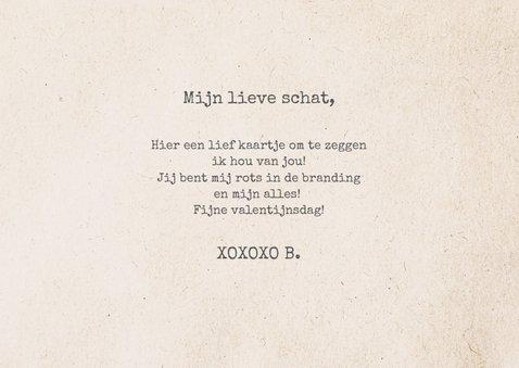 Valentijnskaart krantenknipsels XOXOXO 3