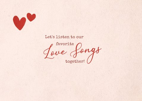 Valentijnskaart liefdesliedjes cassettebandje 2