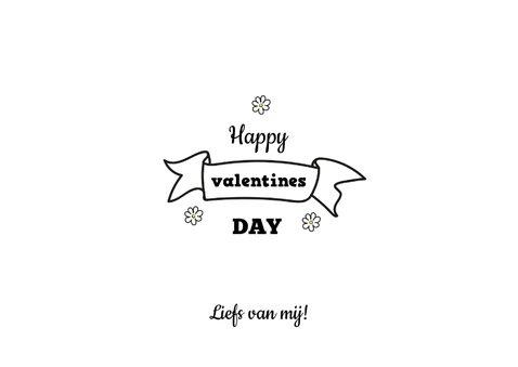 Valentijnskaart met cavia en madeliefje 3