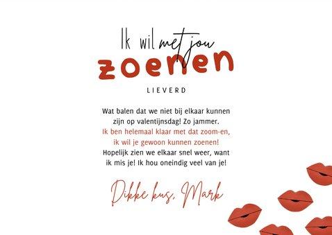 Valentijnskaart met foto ik wil met je zoenen kusjes corona 3