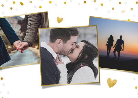 Valentijnskaart met grote foto en tekst fijne valentijnsdag 2