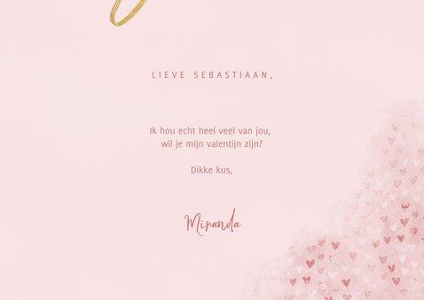 """Valentijnskaart met waterverf, hartjes """"love you"""" en foto 3"""