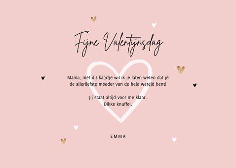 Valentijnskaart persoonlijk foto's hartjes mama oma 3