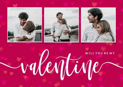 Valentijnskaart will you be my valentine fotocollage 2