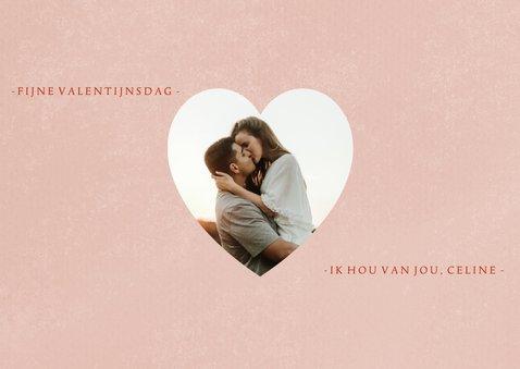 Valentijnskaart XOXO hartjes foto's en roze verf 2