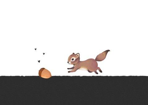 Valentijnskaart you make me go nuts eekhoorn 2