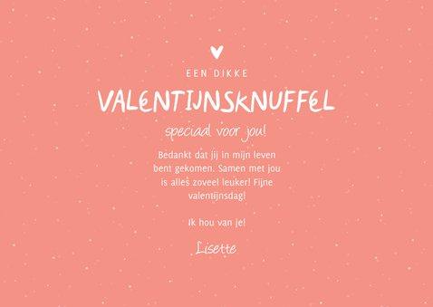 Valentijnsknuffel fotocollage met hartjes aanpasbaar 3