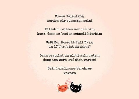 Valentinskarte 'Purrrfect' mit Katzen 3