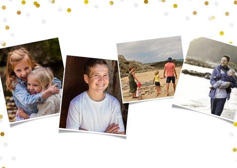 Vatertag Fotokarte drei Fotos und Konfetti 2