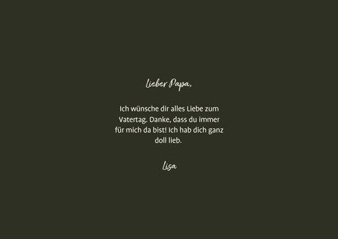 Vatertagskarte drei Fotos 'Liebster Papa!' 3