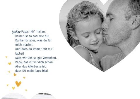 Vatertagskarte mit Foto und Herzchen 2