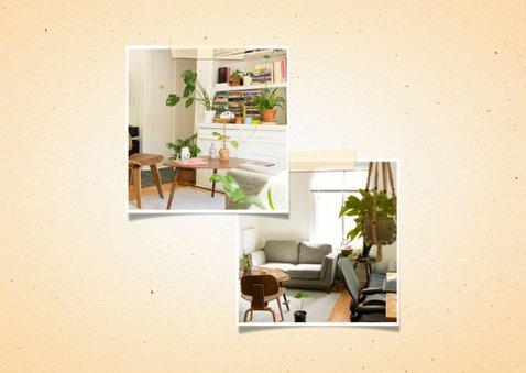 Verhuiskaart 2 foto's met wegwijzerbord en gras 2