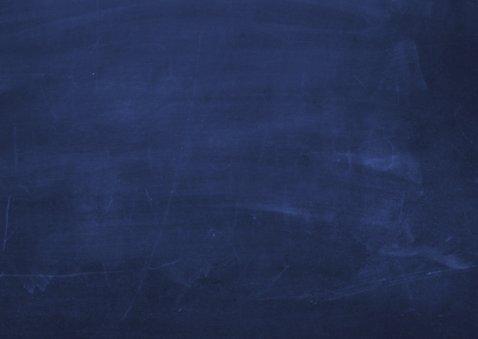 Verhuiskaart donkerblauw krijtbord  2