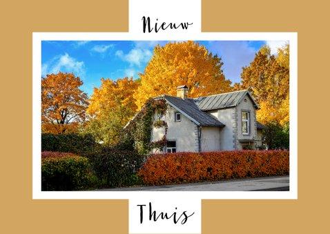 Verhuiskaart foto achtergrondkleur aanpasbaar - OT 2