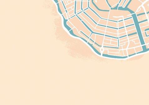 Verhuiskaart huisjes op plattegrond  2