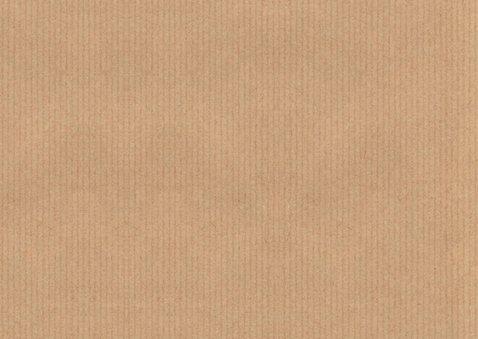 Verhuiskaart samenwonen foto kraft label 2