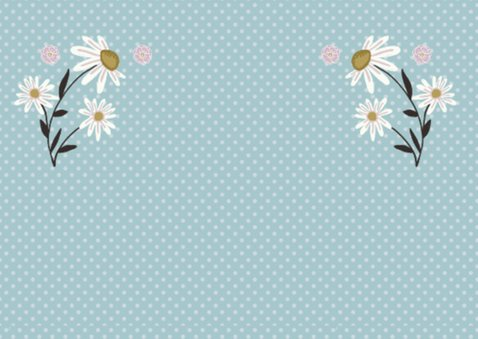 Verjaardag retro bloemen 2