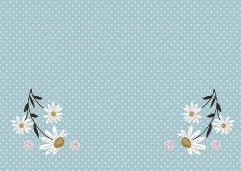 Verjaardag retro bloemen 3