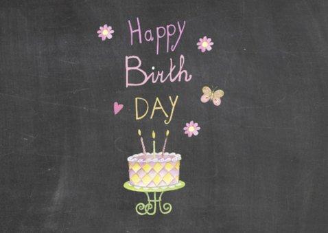 verjaardag taart schoolbord 2