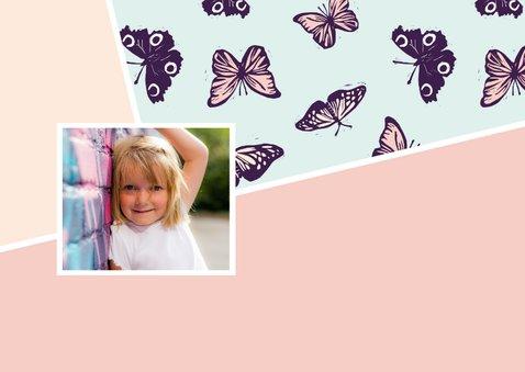Verjaardagsfeestje vlinders in pastel 2