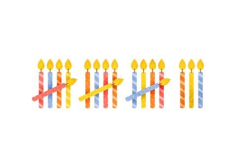 Verjaardagskaart 18 kaarsjes 2