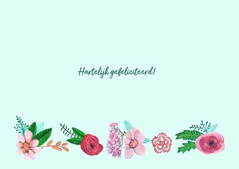 Verjaardagskaart bijzonder bloemen 3