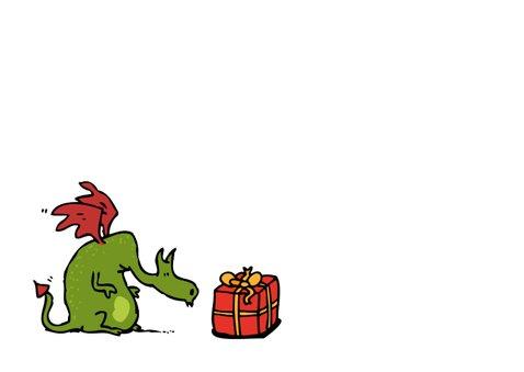 Verjaardagskaart draak en viking 3