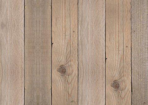 Verjaardagskaart foto houtprint 2