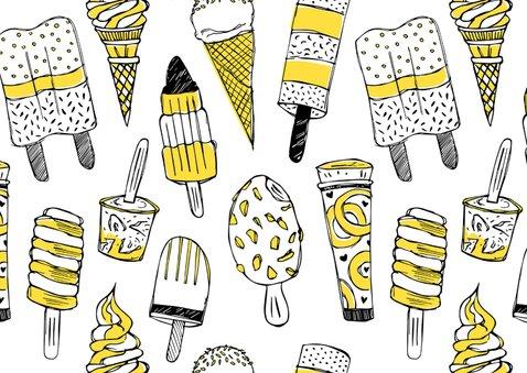 Verjaardagskaart ijsjes met foto 2