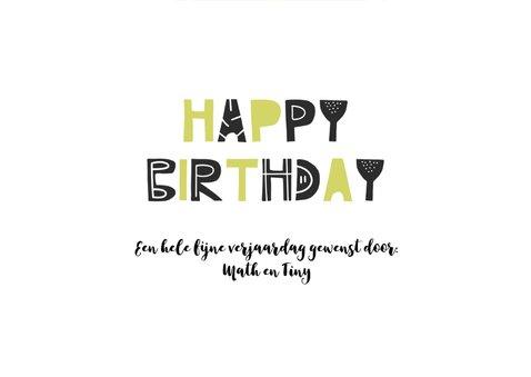 Verjaardagskaart jongen groen monster 3
