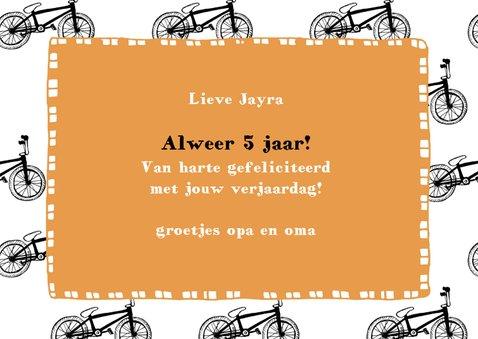 Verjaardagskaart kleine fietsjes met foto 3