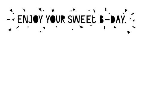 Verjaardagskaart met recept cakejes 2