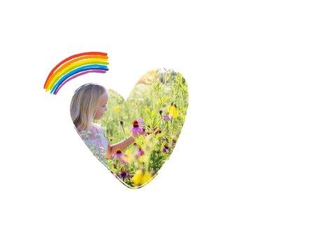 Verjaardagskaart regenbogen met foto 2