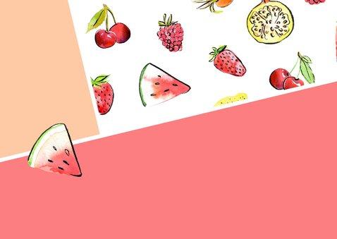 Verjaardagskaart tropisch fruit 2